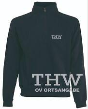 THW Sweat-Shirt / Zipp Neck Sweat/ Pullover mit kurzem Reißverschluss