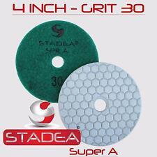 "10 Pads 4"" Prem DRY Diamond Polishing Pad Grit 50 100"