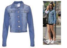 10 12 14 New Ladies Denim Blue Jeans Waist Jacket