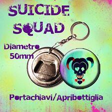Suicide Squad Portachiavi apribottiglia 50mm joker Harley quinn personalizzabile