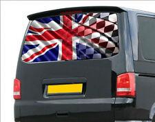 3D British Racing flag sticker, Van graphics,Adhesive Decal