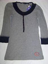 Touch By Alyssa Milano Women's Chicago Bears 3/4 Sleeve Tunic Shirt NWT