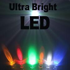 Ultra Luminoso Led 2.1mm/3mm/5Mm/8mm /10mm TUTTI I COLORI VENDITORE UK