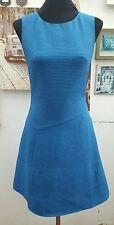 REISS R0YAL BLUE TEXTURE SHIFT DRESS  SIZES 4-6-8-10  RETAIL £160.00