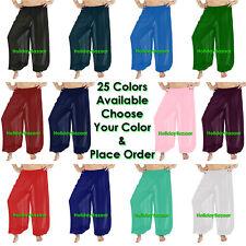 Women Student Harem Yoga Genie Trouser Belly Dance Pant Boho Size S~3XL 25 Color