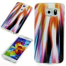 Schutz Hülle Apple HTC LG Sony Samsung Silikon Cover Case Etui Muster Lights