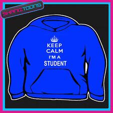 Keep Calm Ich bin Student Erwachsene Herren Damen Hoodie Hoody Geschenk