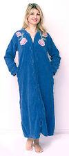 Cotton Chenille Plush Robe Embroided Plus Size Womens Bathrobe Gowns