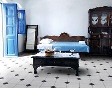 Keystone Design Cushioned Vinyl Flooring Black & White Diamond Tile Effect Lino