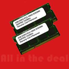 8GB KIT DDR3 1333 MHZ PC3 10600 256x8 (2x4GB) SODIMM