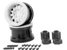 "Axial AX31365 2.2"" Method Beadlock Wheels IFD White RR10 Wraith Yeti AX10 SCX10"