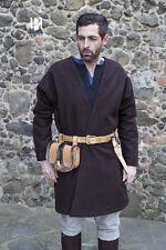Moyen Âge Viking Manteau à Rabats Laine / Larp - Marron A Partir de