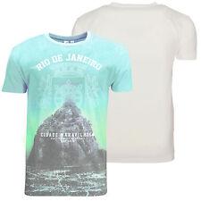 Soul Star New Men's Print T-shirt Christ Redeemer Rio Brazil Design Cotton Tee