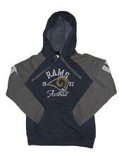 NFL Women's New Rams Hoody Sweatshirt Medium-2XL Navy Distressed