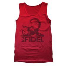 Fidel Castro Cigar  Cuba  Revolution Red Tank Top