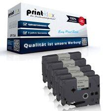 5x cintas Premium para Brother tze931 12mm x 8m Cartuchos -easy print Serie