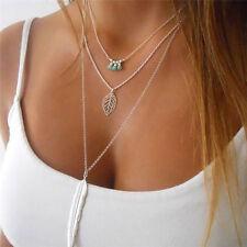 New Charm Jewelry Multilayer Choker Chunky Statement Bib Pendant Chain Necklace