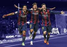 MESSI, NEYMAR & SUAREZ Barcelona Barca FC Art Print Photo Pic Poster A3 A4