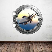 Full Colour Jet da combattimento Esercito Adesivo Parete Oblò camera da letto Decalcomania Murale WSD583