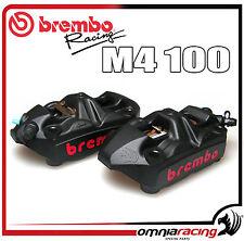 Brembo Racing Pinze Radiali Monoblocco Fuse M4 100 Calipers Nero Interasse 100mm
