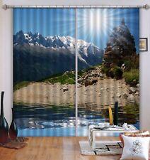 3D Sun Stone Landscape 5 Blockout Photo Curtain Printing Drapes Fabric Window CA
