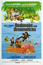 Vintage Disney película Bedknobs y escobas cartel impresión A3/A2