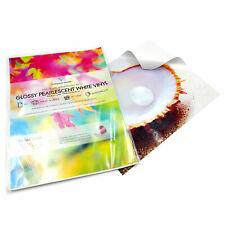 A4 White Vinyl Inkjet & Laser Printable Pearl Glossy Waterproof Sticker Labels