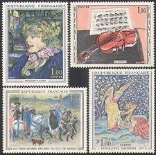 Francia 1965 Arte/Pintura/Tapiz/Violín/Caballos/Ángel/Lautrec 4 V Set (n34733)