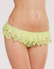 SOUTH BEACH Fran Leaf Frill Waist Bikini Brief SWIMWEAR Lime V Sizes BRAND NEW