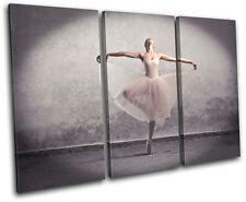 Ballerina Dancer  Performing TREBLE DOEK WALL ART foto afdrukken