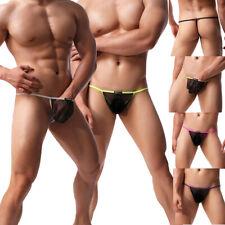 Men's Micro Thong Pouch Underwear Bikini T-Back G-string Mini Panties Swimwear