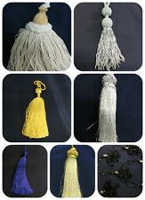 Cushion & Curtains  Key Tassels Beaded Chenille Cotton Satin Metallic
