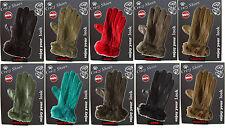 guanti da donna nero marrone rosso verde blu t.moro ecopelle nuovi da negozio