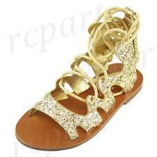 New girl's kids sandals gold glitter comfort casual open toe summer