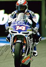 Randy De Puniet HAND SIGNED Autograph MotoGP Aspar Racing 12x8 Photo AFTAL COA
