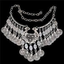 Thai Silver Vintage Ethnic Retro Coin Style Women Necklace Bracelet Earrings