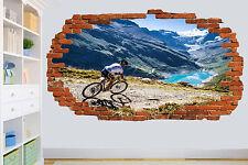 Mountain BIKE BIKER LAGO OFF ROAD Wall Sticker Decorazione Per Soggiorno Decalcomania Murale