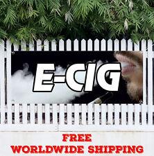 E-Cig Advertising Vinyl Banner Flag Sign Vape Shop VAPE AND E CIG SUPPLIES