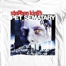 Pet Sematary T-shirt Free Shipping retro horror movie 100% cotton graphic tee