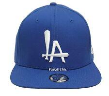 TopCul Blue LA Los Angeles Flat Bill Snapback Baseball Bat Cap Hats
