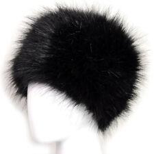 Ladies Winter Faux Fox Fur Cossack Hat Super Warm Fluffy Lady Russian Style Cap