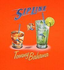 NWT Tommy Bahama Sip Line T Shirt Mens XLT 2XT 2XB 3XT 3XB Orange SS RELAX