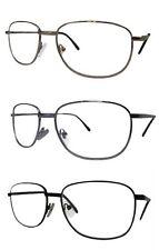 Bifocal Reading Glasses Square Metal Frame Spring Hinge 4 Frame Colours Bi Focal