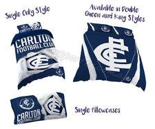 Carlton Blues 2018 AFL Quilt Cover Set Doona Single Double Queen King Pillowcase