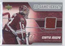 2006-07 Upper Deck UD Game Jersey J-CJ Curtis Joseph Phoenix Coyotes Hockey Card