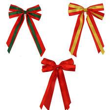 17.8cm Árbol de Navidad Listón para Decoración Enorme Lazos & Largo Coletas X 2
