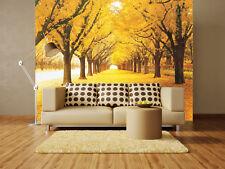 3D Golden grassland Tree leaves Wall Paper Wall Print Decal Wall Aj Wallpaper Ca