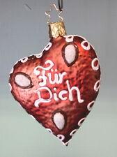 """Corazón """"para ti"""" 8 cm árbol bala bola de Navidad tipo nuevo"""
