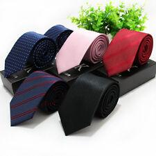 Factory 7cm Men Classic TiesStripes Professional Skinny Neck Tie  Silk Necktie