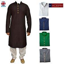 Mens Black Chicken Kurta Pajama Salwar Kameez Indian Outfit-GR2020